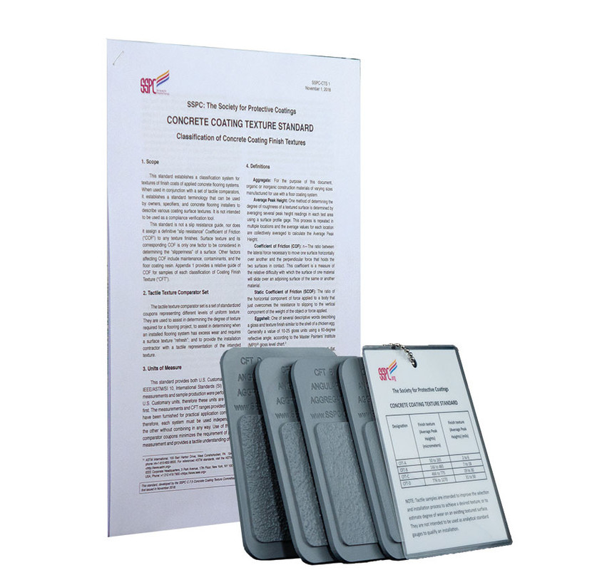 Concrete Coating Texture Standard And Coupon Set